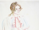 CELIA IN RED & WHITE DRESS